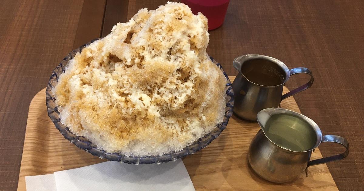 カフェのかき氷