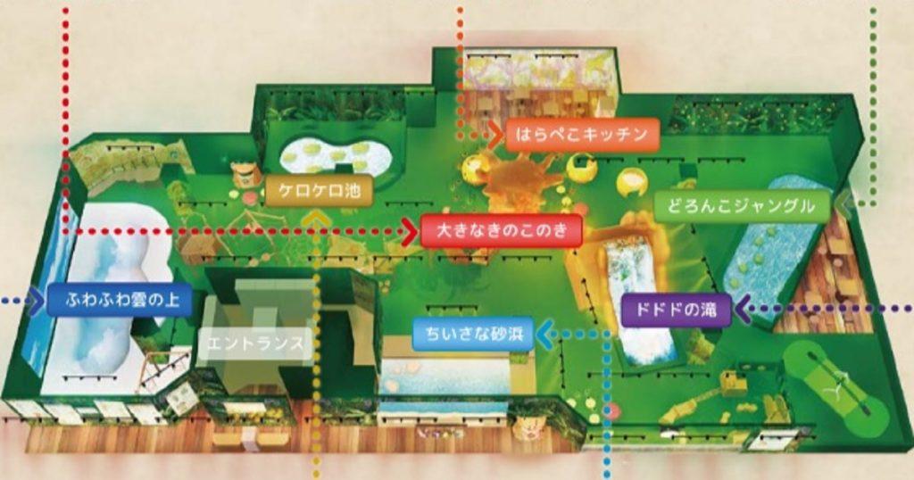 屋内・冒険の島ドコドコ マップ