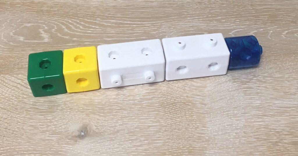 きらきら知育ブロックで作った消火栓ノズル